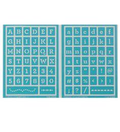 Martha Stewart Crafts™ Typewriter Adhesive Stencils