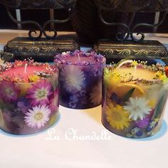 flowers in a candle!! Perfect