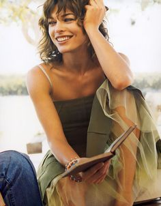 Mila Jovovich. Love her! Think she is so beautiful.