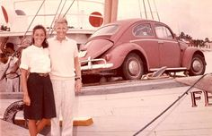 Bug on a Boat! 1966 Mexico: Cozumel, dock VW by billsrum, via Flickr