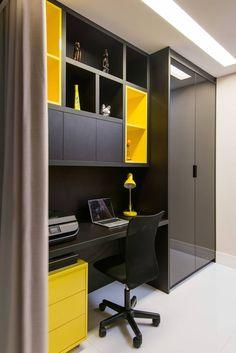 Apartamento Jardim Apipema: Escritórios por Escritório de Arquitetura e Interiores Janete Chaoui