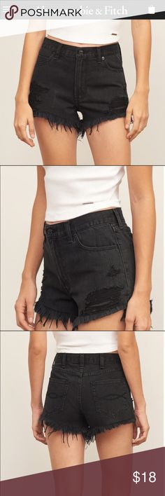 High rise 2 inch destroyed denim shorts New never been worn. Super cute! NO TRADES 🚫 Abercrombie & Fitch Shorts Jean Shorts
