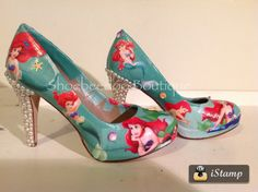 Little Mermaid heels with Pearls and Shells by ShoebeedooBoutique, $84.95