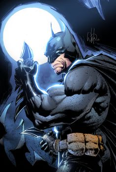 Batman by Whilce Portacio, Bryan Arfel Magnaye - colors Comic Book Artists, Comic Book Characters, Comic Books Art, Comic Art, Deadpool Deathstroke, Valiant Comics, Batman Artwork, Marvel Comics Art, Comic Drawing