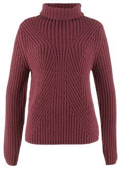 Sweter z golfem Całkowita dł • 74.99 zł • bonprix