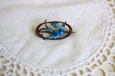 Hey, I found this really awesome Etsy listing at https://www.etsy.com/listing/265239819/antique-victorian-brass-enamel-blue