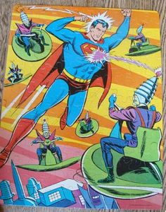 Man of Steel...Superman...1966 Whitman Puzzle...WoW!