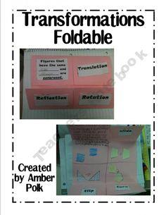 Transformations Foldable {FREEBIE}
