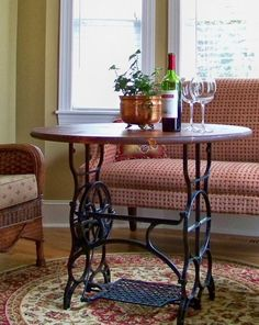 60 Ideas to recycle your old sewing machines in furniture diy with Vintage…