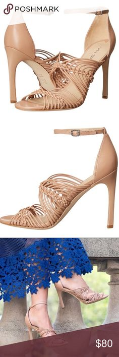 """Via Spiga nude blush Dorian leather strappy heels So cute and perfect for spring! Worn a few times but still in great condition. Soles show signs of wear, and there are scuff marks on heel. 4"""" heel with ankle strap. Leather upper. Please view all photos. Sorry, no box. Bundle to save 25%! Via Spiga Shoes Heels"""