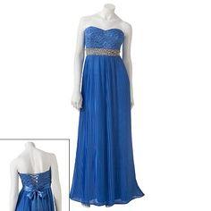 My Michelle Lace Rhinestone Long Dress - Juniors $108.00