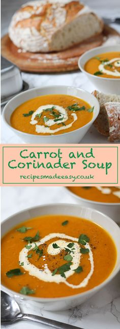 Simple and quick to make - Carrot and Coriander Soup. Classic flavours, great taste! via @jacdotbee