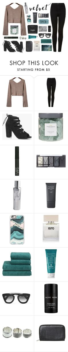 """""""You needed me"""" by bosstyles ❤ liked on Polyvore featuring Topshop, Boohoo, Threshold, NARS Cosmetics, H&M, Paul's Boutique, Neutrogena, Casetify, Chanel and Bella Freud"""