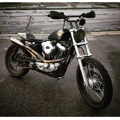 The New Dual Sport? Johnny Bones's Sportster Tracker – BikeBound