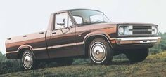 The 1978 Ford Courier compact pickup had a new grille design that incorporated the parking lamps. The XLT version flashed lots of bright trim on the outside and woodgrain accents on the inside. 1979 Ford Bronco, 1979 Ford Truck, Mini Trucks, Old Trucks, Compact Pickup Trucks, Ford Courier, Bronco Sports, Shop Truck, Ford F Series