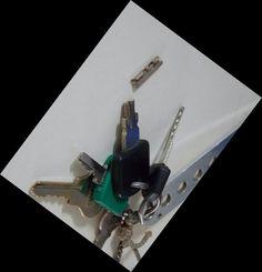 A chave do cadeado da minha bicicleta quebrou