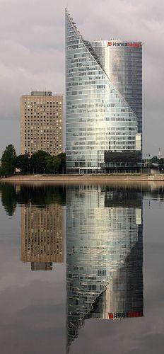 Corporate HQ reflection, Riga, Latvia | Flickr - Photo Sharing!