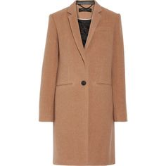 Rag & bone Emmet Crombie leather-trimmed wool-blend coat ($940) ❤ liked on Polyvore featuring outerwear, coats, jackets, beige coat, rag bone coat, crombie coat, wool blend coat and leather trim coat