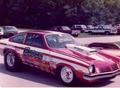 Bud Graham's Super Gas Vega. It was a family project. Bud owned and tuned it , son Mark drove it and son Rod built the motors. Note the shop ad is BUDCO Speed Equipment. A business name change.