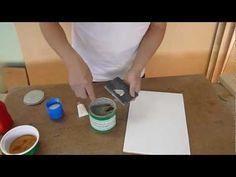Masilla con linaza y serrín para madera - YouTube