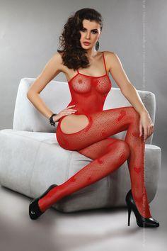 Livia Corsetti - Titania Red erotyczne bodystocking LC 17106