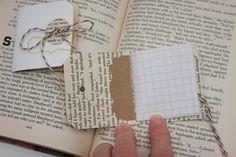 shipping tag mini book