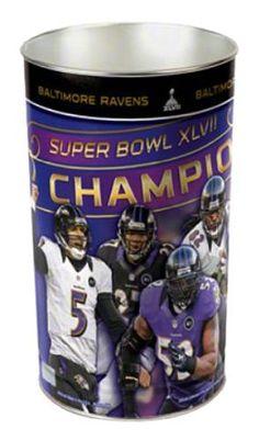 NFL Baltimore Ravens Super Bowl XLVII Champions Multiple Players Wastebasket:Amazon:Sports & Outdoors