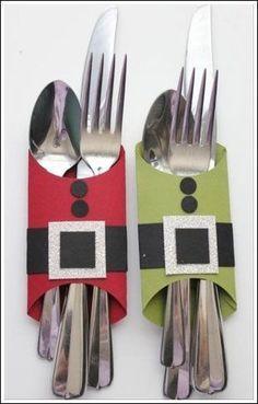cute idea for the festive dinner table : Christmas Craft Ideas - Babybites.co.nz: