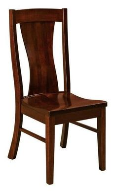 Amish Westin Dining Chair Best selling Amish made dining chairs. The Westin wins with its versatile style and fine solid wood construction. You can customize it too, and have it built in the wood and stain you choose. These dining chairs will last for generations, they are made that well. #diningchairs #chairs