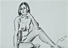 Nude - pencil on paper