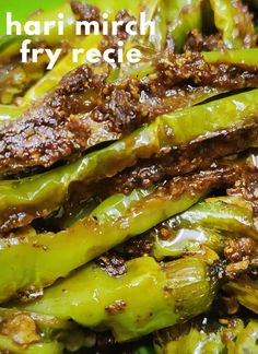 Hari mirch fry is a delicious and super yummy recipe where green chilies are sauteed in some Indian aromatic spices.