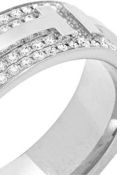 Tiffany & Co - 18-karat White Gold Diamond Ring -
