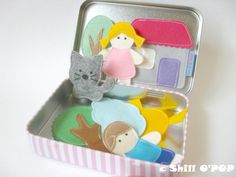 PDF Pattern Felt Magnetic Toy Set Tin Box Game For Kids