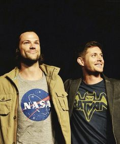 the guys at Comic Con 2013. Look at their t-shirts! They're such dorks, I love 'em!