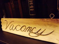 Vacancy/No Vacancy Sign Painted in Black, Cream, & Gold on Reclaimed Wood ~ Steampunk Victorian Hotel Vacancy/No Vacancy Sign Wall Hanging
