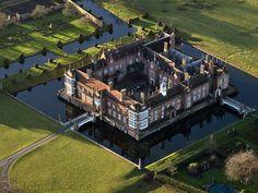 Helmingham Hall aerial image   by John D F