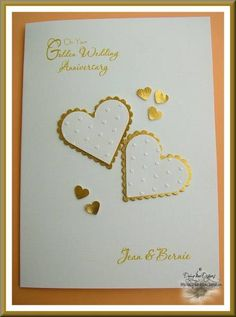 Golden Wedding Anniversary card by Daizy-Mae - Cards and Paper Crafts at Splitcoaststampers