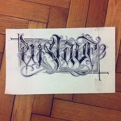 Enslave. #wlk #calligraphy #calligritype #chicano #tattoo …   Flickr