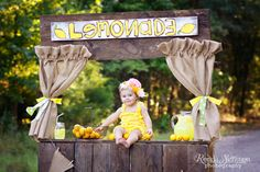 Lemonade Stand Photo Shoot~Children's photography http://rondasimpsonphotography.com