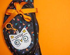 Reflective bag charm bird owl for your bag, backpack, belt bag. Road safety bag keychain, fabric toys for kids & teens.