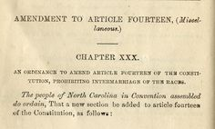 The Last Time North Carolina Amended Their Constitution On Marriage