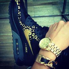 Black & Gold Customized Nike Air max