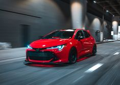 The Super Street Toyota Corolla Hatchback shows up at the 2018 SEMA Show with a better engine, upgraded suspension and brakes, and tons of attitude. Corolla 2018, New Corolla, Toyota Corolla Hatchback, Hatchback Cars, Toyota Cars, Toyota Supra, Chevy, Desktop, Racing Stripes