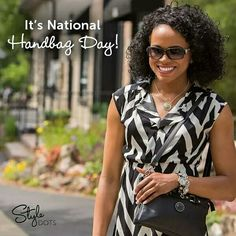 Style Dots is celebrating #NationalHandbagDay in a big way! 200 of Our very popular Black Hip Bags and Natural Black Marble Statement Dots are on sale for only $34.95 - more than 50% off! Flash Sale from 10 am EDT Monday, October 10th to 10 am EDT Tuesday, October 11th, 2016. While Supplies Last! Contact me today or shop now @ Christa.styledotshome.com/products/specials/national-handbag-day-sale #ISDFBPchrista #ChristaStyleDots #ThoseSnapThings #christaDOTstyledotshomeDOTcom
