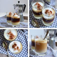 Barraquito - eine Kaffeespezialität aus Teneriffa mit gesüßter Kondensmilch, Licor 43, Espresso, Milchschaum und Zimt