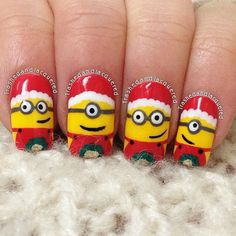 minions christmas by trashedandlacquered #nail #nails #nailart
