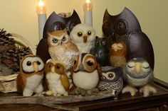 felted Parliament of Owls