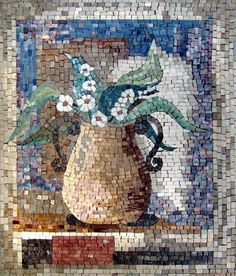 Image result for mosaic branches and flowers over water images