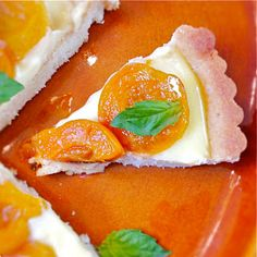 A is for: Apricot & Basil Tart