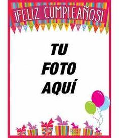 Felicita el #cumpleaños a tus amigos y familia con esta tarjeta de colores que puedes personalizar con una fotografía. Diseña una postal de #cumpleaños divertida con muchos colores, regalos y #globos. www.fotoefectos.com Happy Birthday Birds, Condolences, Cristiano Ronaldo, Birthdays, Scrapbook, Diy Crafts, Fun, Bilbao, Dragon Ball